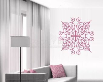 Arabesque Vinyl Wall Decal Sticker Arabesque Modern Decal Arabesque Vinyl Wall Decal Artets50085 Modern Decals Vinyl Wall Decals Decal Wall Art
