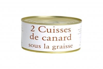 Cuisse de canard : LE produit du Sud-ouest par excellence, issu d'une coopérative agricole. (Cliquez sur l'image pour accéder au descriptif du produit).