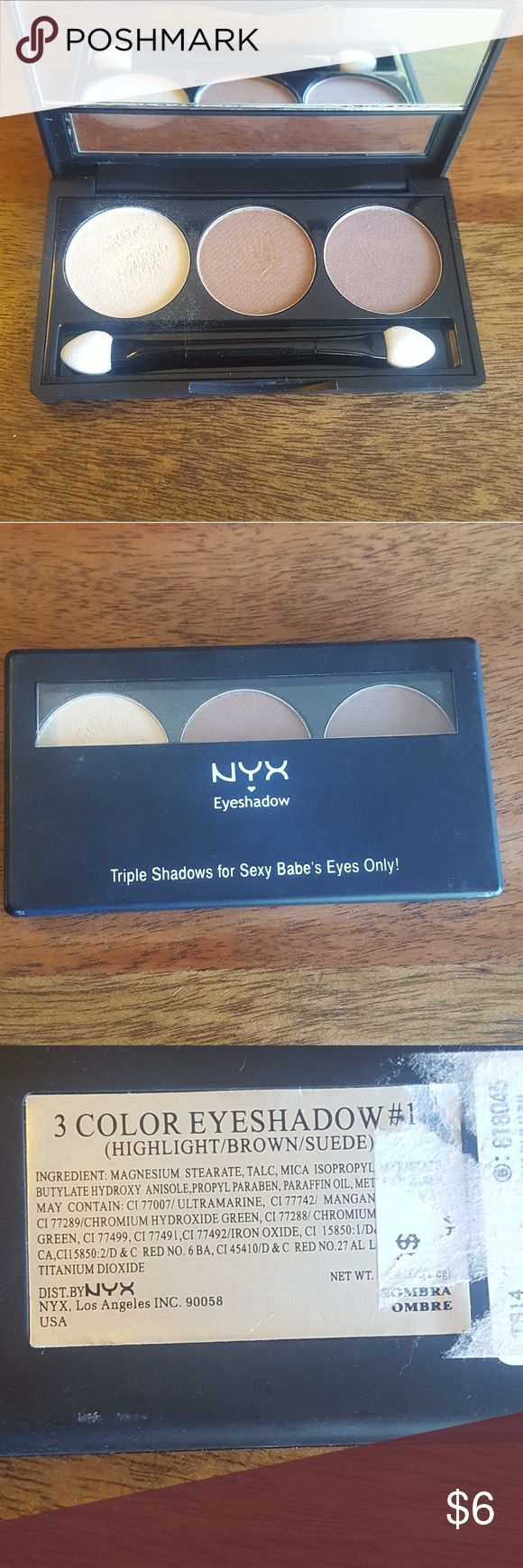 NYX Triple shadow palette  NWOT Highlight brown suede (never used) NYX Makeup Eyeshadow