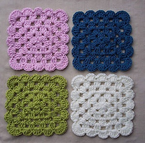 Square Crochet Coasters