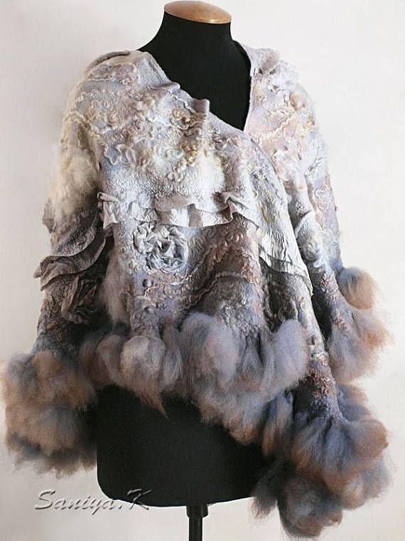 Hygge Shawl Gently-Gently felted hygge shawls