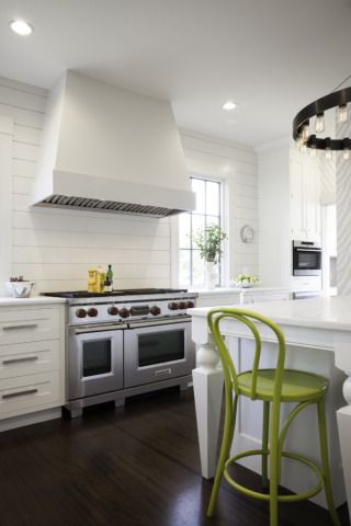 Hood Profile Shaker Cabinetry Ship Lap Kitchen