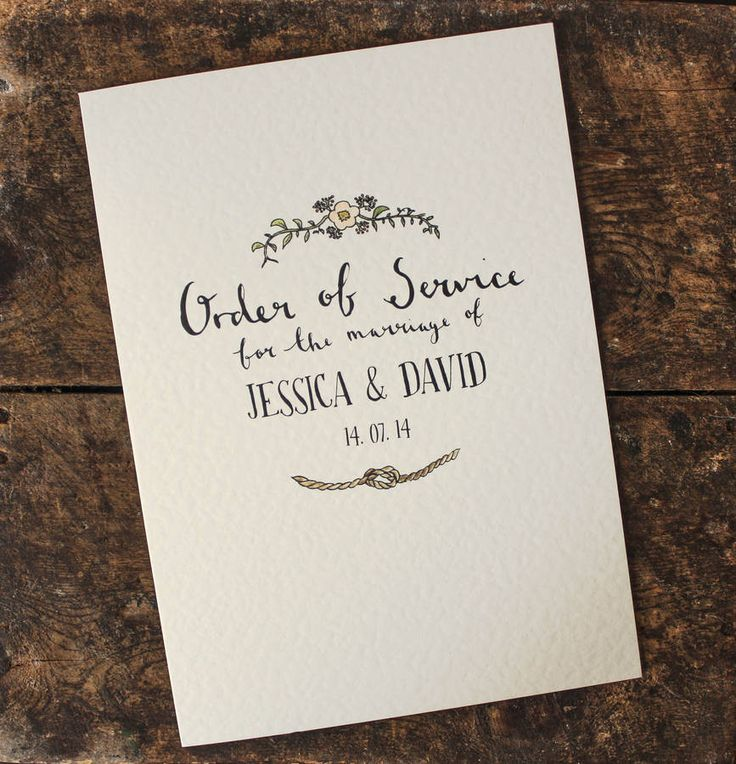 bespoke illustrated order of service by rebecca mcmillan illustration | notonthehighstreet.com