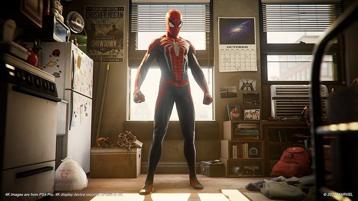 Spiderman ps4 release date teased??!! look at the calendar behind it marks a date in october.