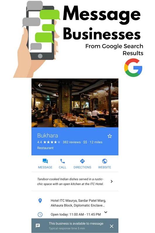 Chatear con clientes vía Google My Business