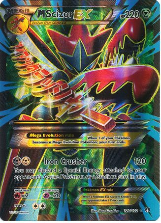 Mega Scizor EX 120/122 Pokemon TCG: XY BREAKpoint, Full Art Holo Pokemon Card #pokemon #pokemontcg #pokemoncards