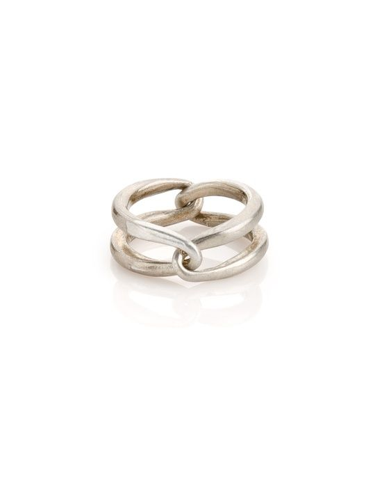 Simple Silver Twisted Ring