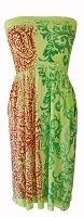 Lime, Green & Red Strapless M. Rena Dress
