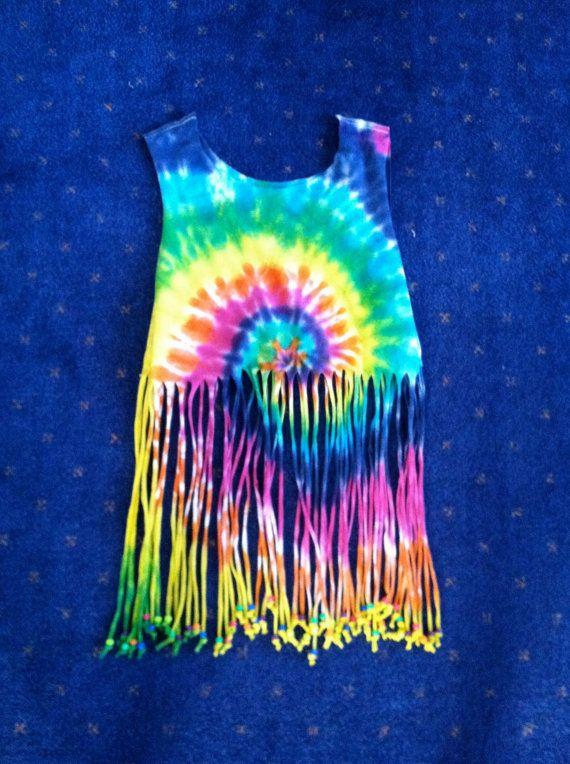 Tie Dye Fringe Shirt via Etsy