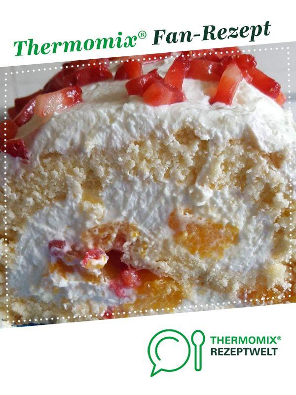 Fruchtige Biskuitroulade Rezept Kochrezepte Pinterest Backen