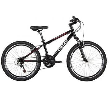 Bicicleta Caloi Wild Mountain Bike Aro 24 - 21 Marchas Câmbio Shimano Quadro de Alumínio