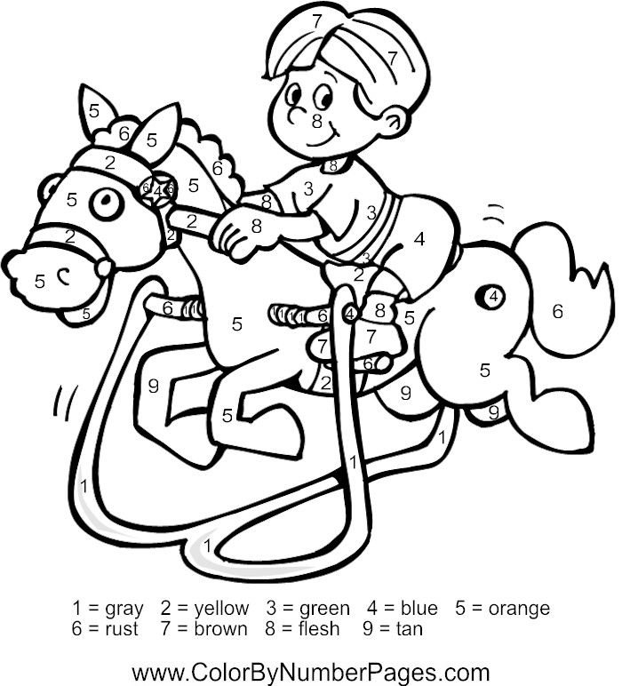 coloring pages for kids color by number horse color by number horse worksheets color