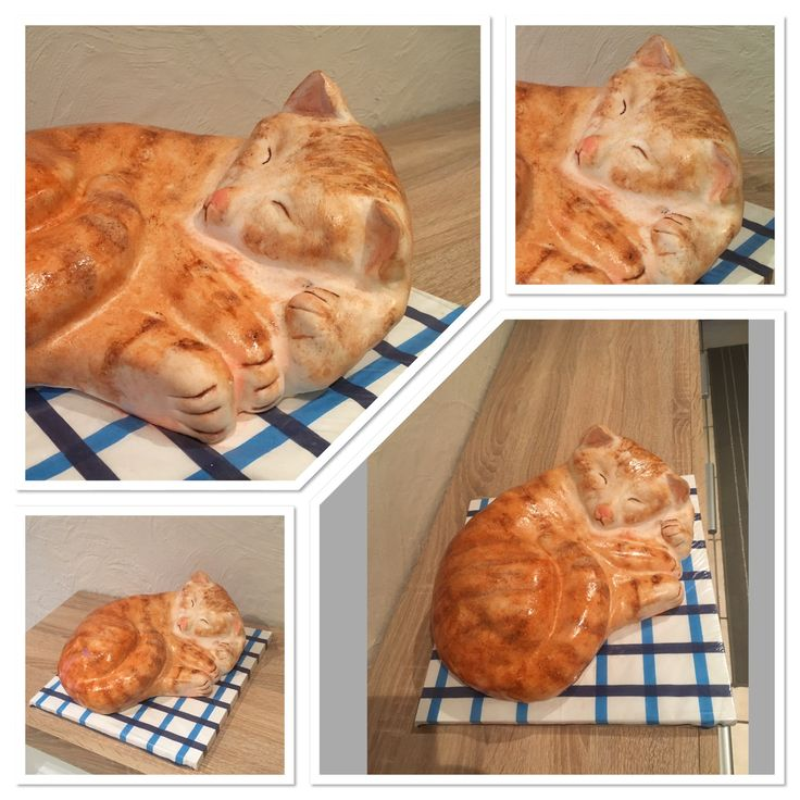 3D cake Cat  Fondant 3D Motivtorte rote Katze  Roter Kater