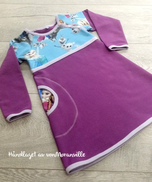 Home made Frozen dress. Sewn in luxury sweat - perfect for winter!