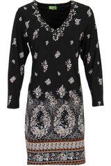 K-design - jurk met bloemen dessin en edelsteentjes #fashion #prints #midnightgarden #flowers #floral