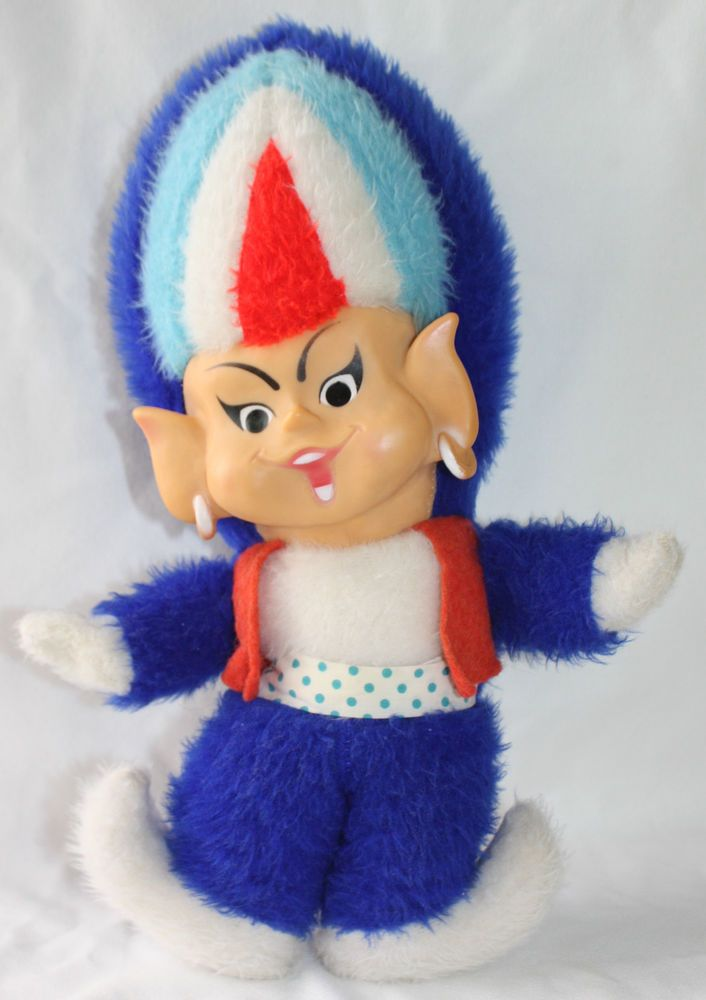 Rare Vintage Plush 1960s Union Gas Genie Toy Doll Boy Mascot Gas Flame Head