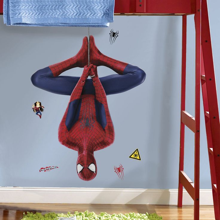 room mates marvel the amazing spider man 2 web slinging peel and stick giant wall decal