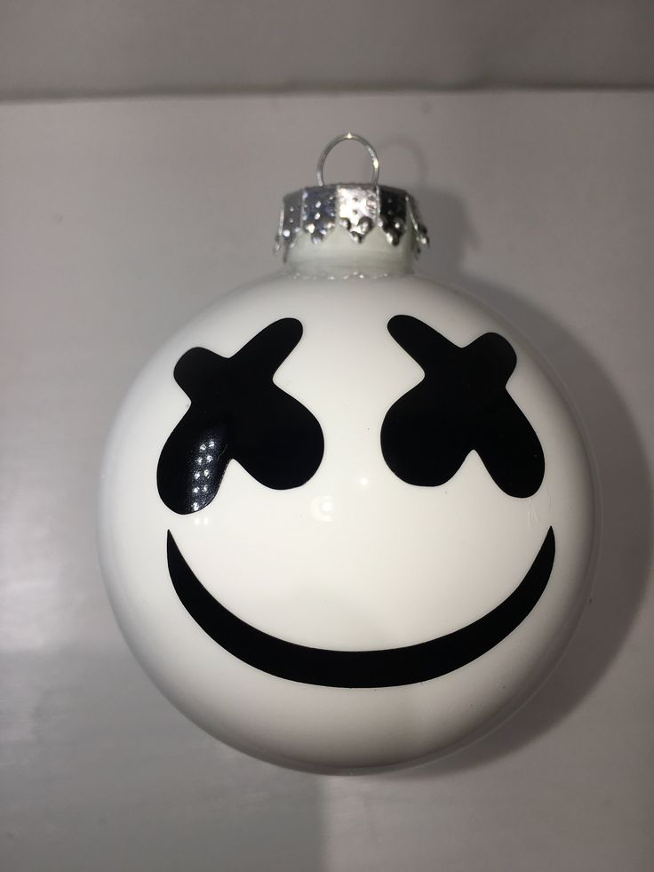 MARSHMELLO Christmas Ornament Mellogang Tree Decoration - Monster Cat EDM EDC glass ball