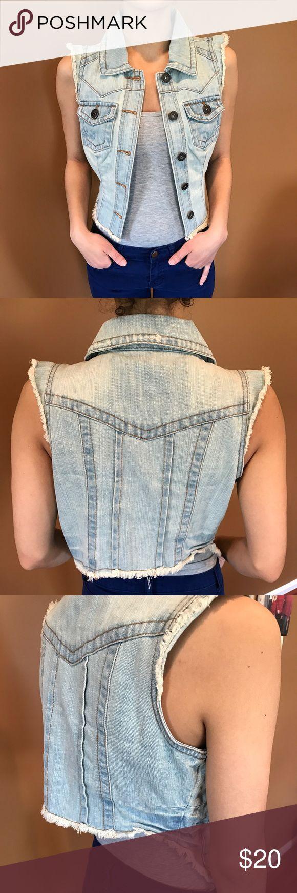 Jean jacket Light wash sleeveless Jean jacket Highway Jeans Jackets & Coats Jean Jackets