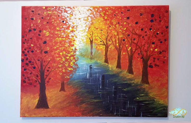 Forest Picture 'Hope' Canvas Print based on Original Painting by Goy