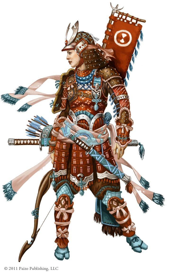 Female samurai illustration ~ mostly fantasy