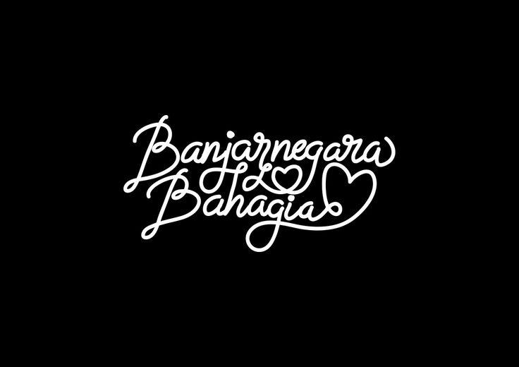 Typography Hand drawing Banjarnegara Bahagia