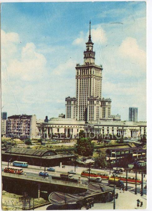 Warszawa 1960, Stary Dworzec Warszawa Centralna pocztówka RUCH-u z 1961 fot. K. Jabłoński