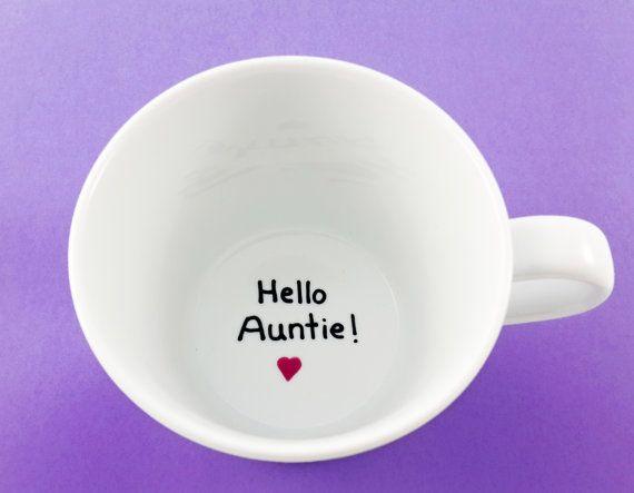 Pregnancy announcement hello auntie pregnancy reveal by Gliadesign
