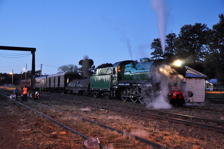 Beautiful locomotive at night