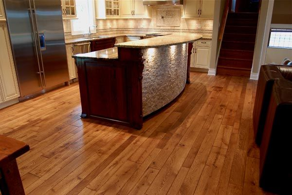 46 best wood floor stain images for Flooring before cabinets