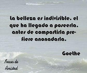 Frases de belleza de Goethe