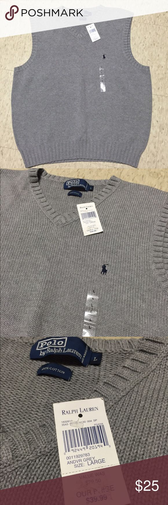 Ralph Lauren Sweater Vest Ralph Lauren Sweater Vest. Men's large. New with tags Ralph Lauren Sweaters