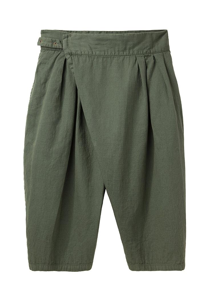 Limi Feu / Cross-Front Cropped Pant | La Garçonne