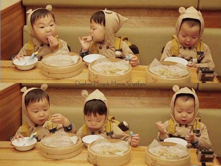 Ae-gi goms (baby bears) Daehan, Minguk, Manse eating broadcast | The Return of Superman | So cute!!