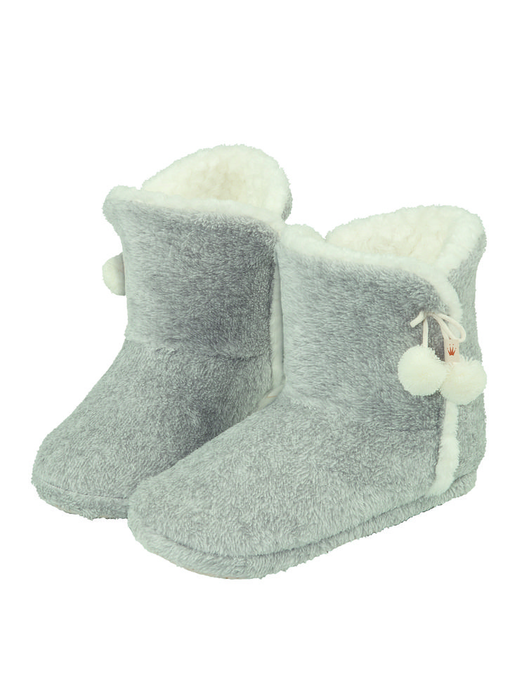 Enjoy relaxing winter days or evenings in these cosy, soft house boots.  Photographed: Triumph House Boots in Grey Combination