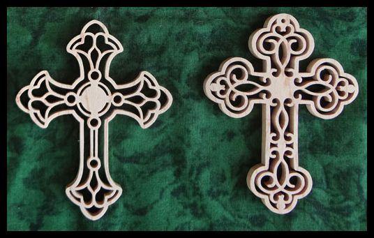 Celtic cross scroll saw patterns free - Filigree cross scroll saw patterns from Sheila Landry designs