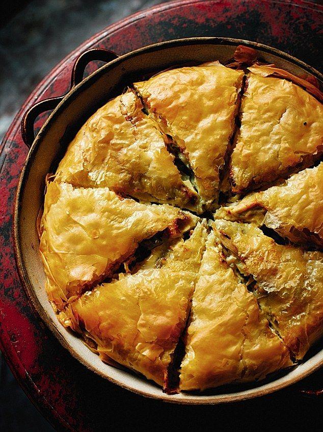 Rick's Mediterranean marvels:Greek chicken pie (kotopita) #dailymail