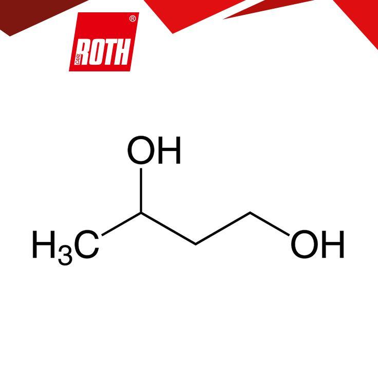 1,3-Butandiol ≥99 %, zur Synthese 1,3-Butylenglykol Summenformel C4H10O2 Molare Masse (M) 90,12 g/mol Dichte (D) 1,01  Siedepunkt (Kp) 204 °C Schmelzpunkt (F) -50 °C WGK 1 CAS-Nr. [107-88-0] EG-Nr. 203-529-7