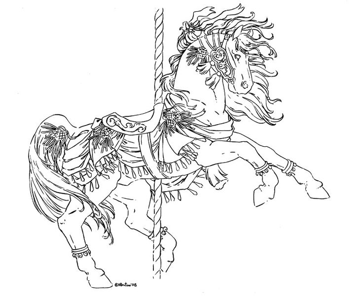 246 best LineArt: Carousel Animals images on Pinterest