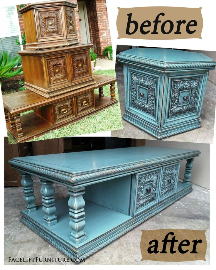 Sea Blue Chunky Coffee & End Tables - Before & After - 25+ Best Ideas About Painted Coffee Tables On Pinterest Coffee