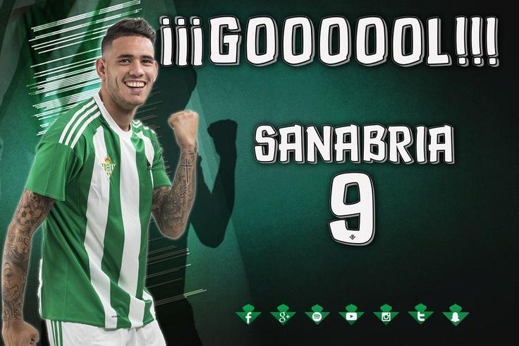 LaLiga: GOL | Sanabria marca el 2-1! Remonta el Betis! Resuelve en el área un mano a mano y da ventaja a los suyos (53'). #RealBetisCelta