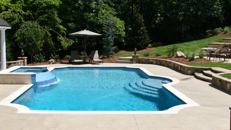 39 best pools and spas images on pinterest spa spas and for Leblanc custom homes