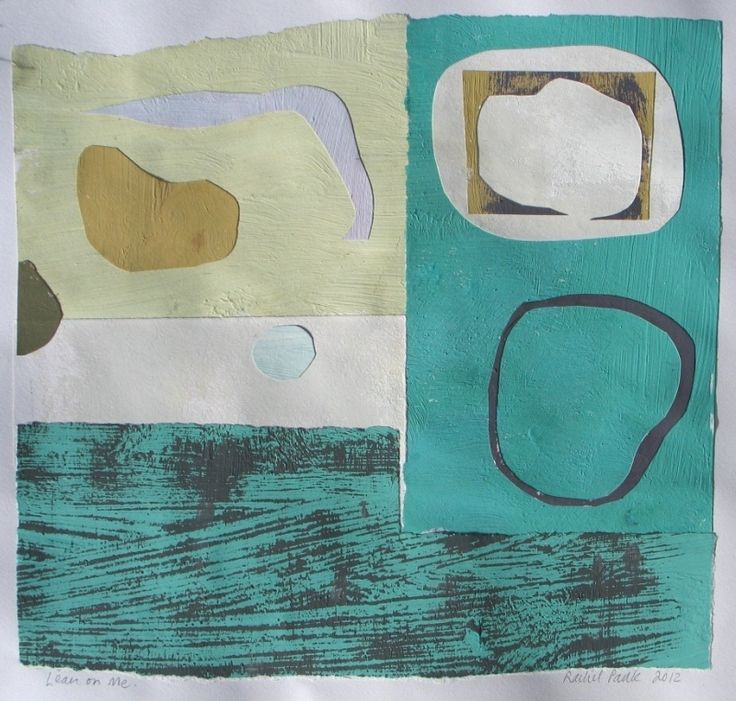 monoprint, collage and acrylic