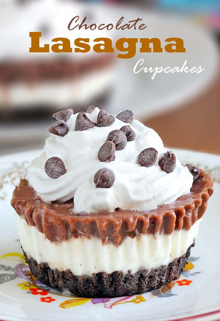 Try this delicious chocolate lasagna cupcakes, and we are sure it will become your favorite summer or any other time treat!