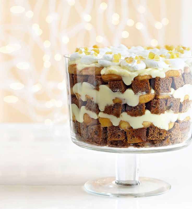 Gingerbread Apple Trifle