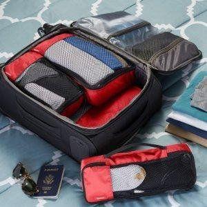 AmazonBasics Kleidertaschen-Set, 4-teilig, je 1 kleine, mittelgroße, große und schmale Packtasche, Schwarz: Amazon.de: Koffer, Rucksäcke & Taschen