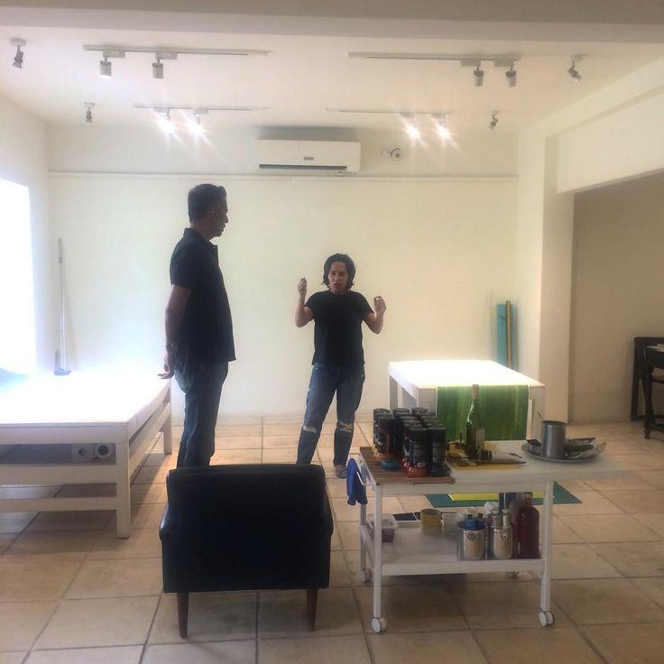 Arshad Faruqui at Recorded Time studio #day5 #koelgallery #ayesshaquraishi #recordedtime #openstudio