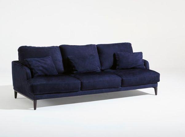 Canapé design bleu 3 places Saint Germain en Tissu fabriqué par