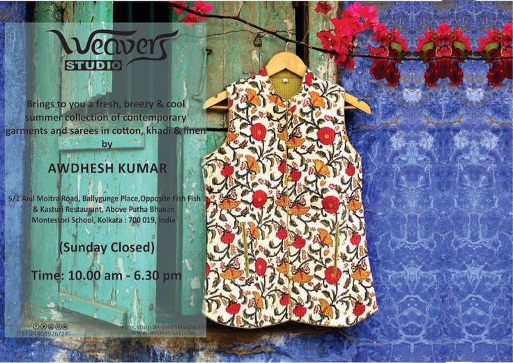 Breezy summer garments by Awdhesh Kumar at #WeaversStudio.