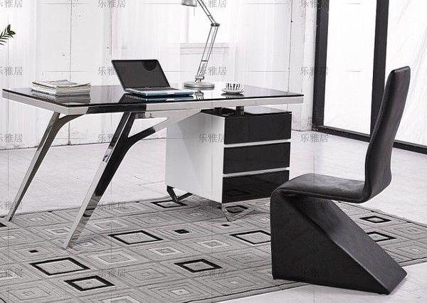 Le Agile нержавеющей стали творческая личность стол офисный стол компьютерный стол стекло фортепиано краски